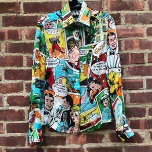 Dolce & Gabbana Comic Book Button Down top Shirt